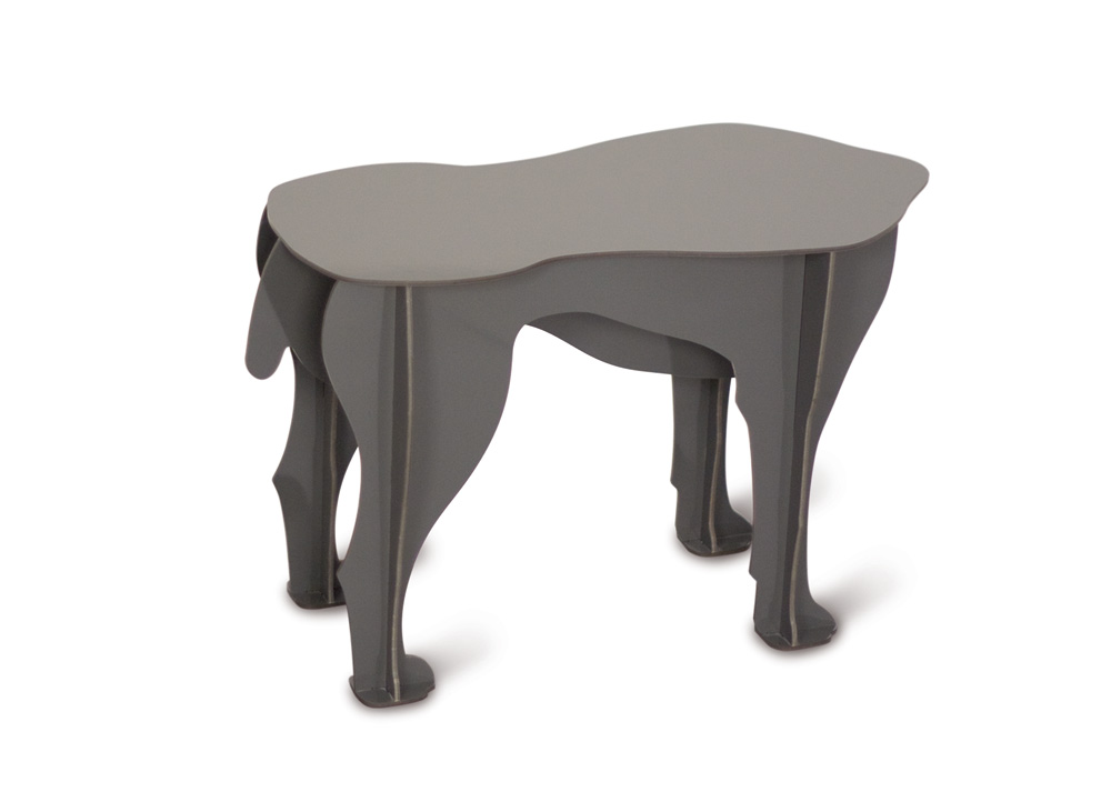 Sultan Grey μικρό τραπέζι από μελαμίνη