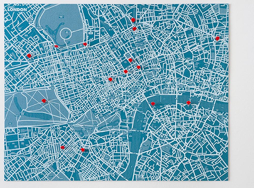 london-blue χάρτης Λονδίνου