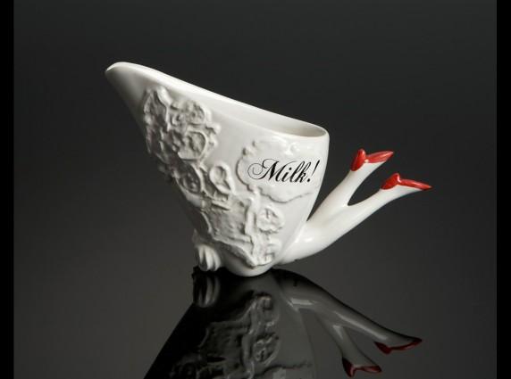 milk red μοντέρνα γαλατιέρα