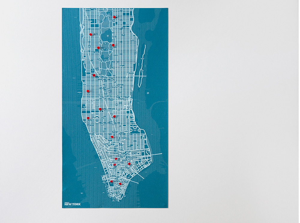 Νew Υork blue χάρτης τοίχου Νέας Υόρκης