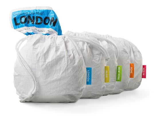 palomar crumpled city london χάρτης πόλεων τσέπης αδιάβροχος