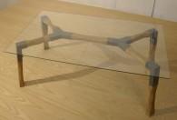 spider table γυάλινο τραπέζι