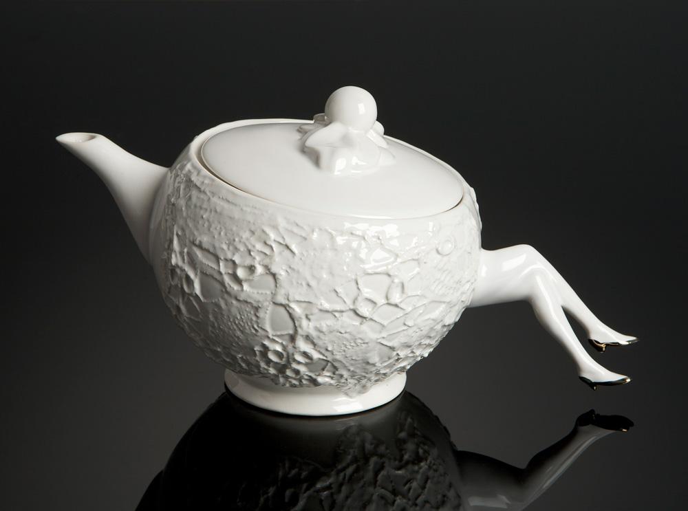 teapot gold τσαγιερό