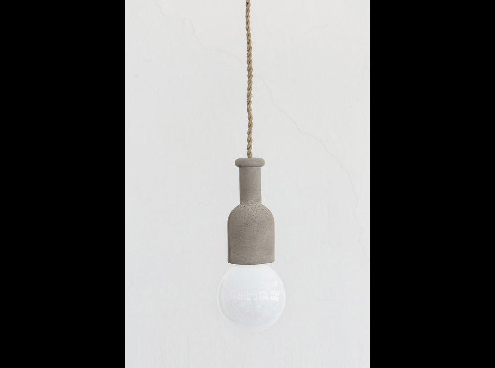 concrete ceiling small lamp φωτιστικό οροφής από τσιμέντο