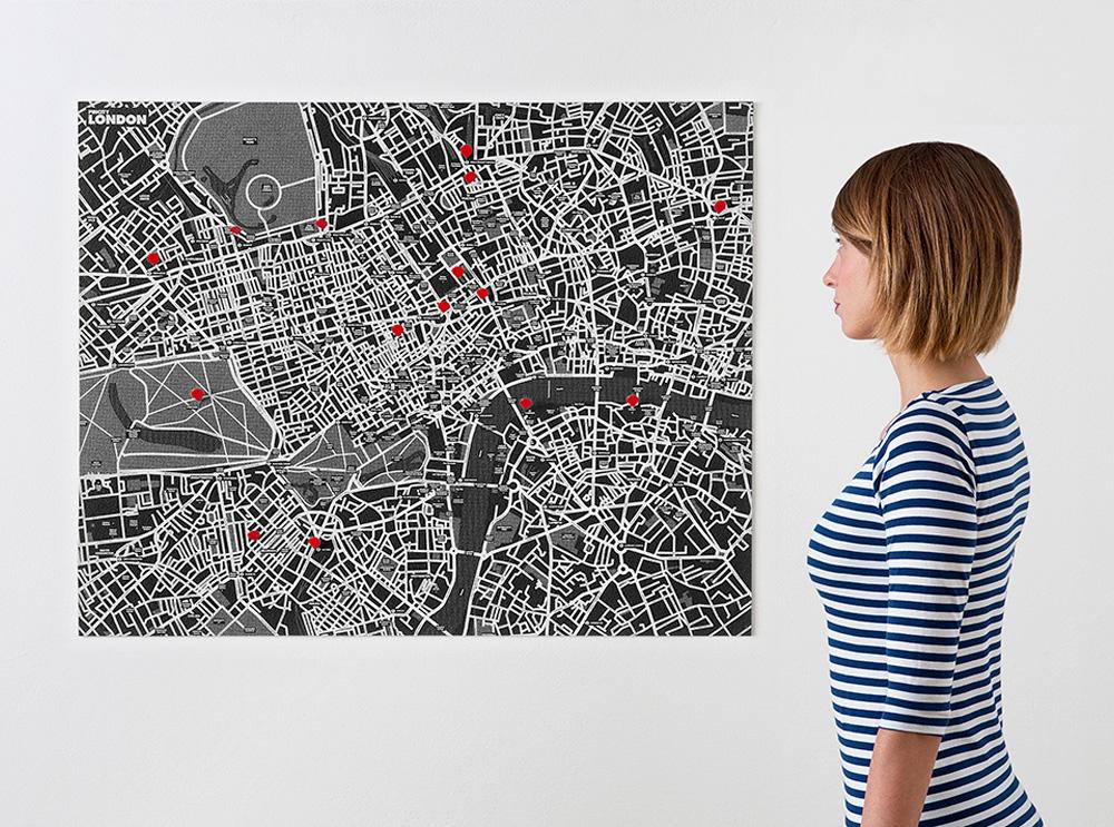 london-black χάρτης τοίχου