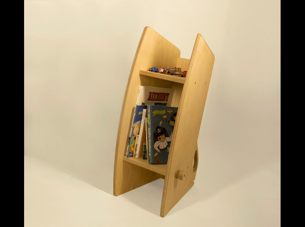zoo-bookself ξύλινη βιβλιοθήκη