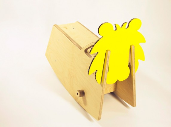 zoo yellow παιδικό αλογάκι