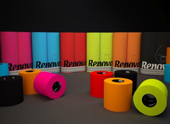 wc 6 roll pack χαρτί τουαλέτας χρωματιστό