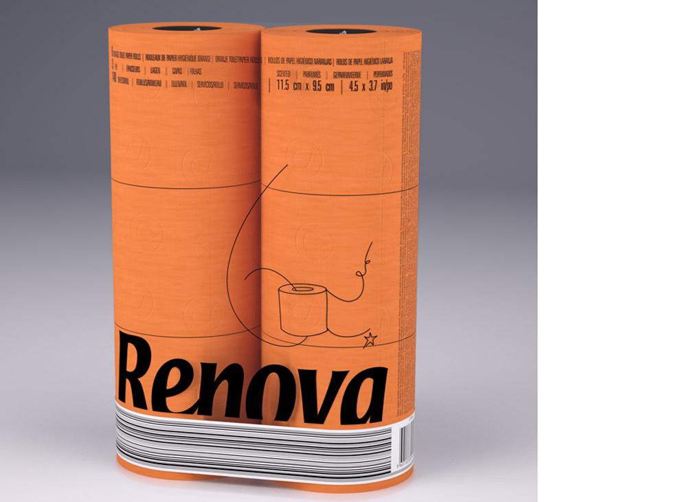 wc 6 roll orange χαρτί τουαλέτας χρωματιστό