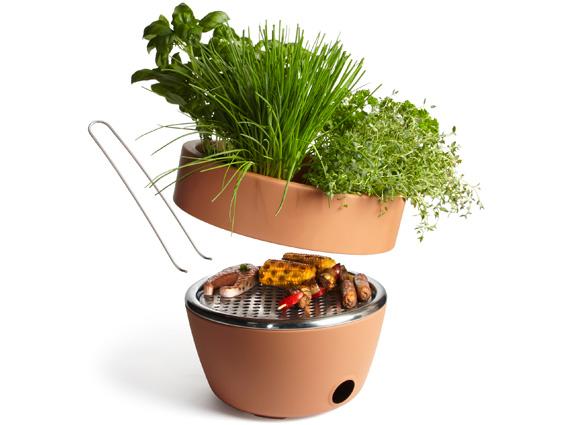 black&blum hot pot bbq γλάστρα και ψησταριά