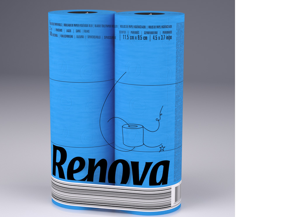 wc roll blue χαρτί τουαλέτας χρωματιστό