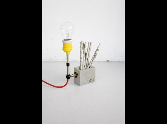 concrete small lamp φωτιστικό επιδαπέδιο